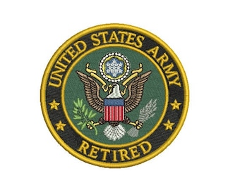 US Army (Retired) Embroidery Design in 3 Sizes - INSTANT DOWNLOAD