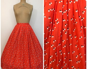 Vintage 1950s Novelty Print Skirt Flies Bug Print Fabric 50s