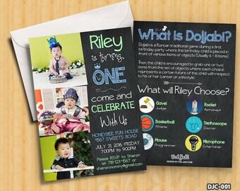 Korean First Birthday Party Invitation Doljanchi Doljabi Personalized