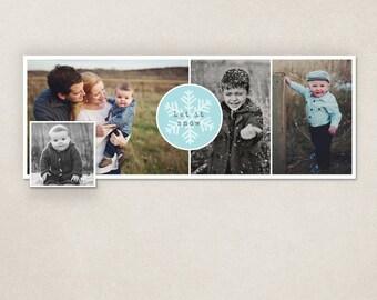 50% SALE Winter holidays facebook timeline cover template digital PSD - Let it Snow FC052