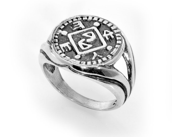 Block Removal & Positive Changes King Solomon 925 Sterling Silver Amulet Ring - Choose Size!