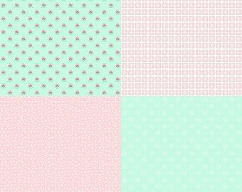 A Little Sweetness by Tasha Noel Fat Quarter Panel (FQP6511-Mint)