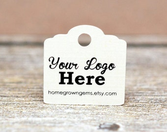 """Custom Tags - 1"""" Personalized with Logo Text - Jewelry Tags - Price Tags - Hang Tags"""