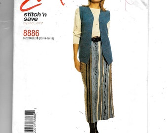 McCall's Misses' Lined Vest and Pull-On Skirt  Pattern 8886