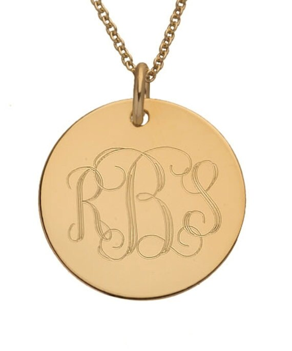 Disc monogram necklace gold initial engraved large pendant disc monogram necklace gold initial engraved large pendant personalized gift round initial pendant medal monogram initial necklace aloadofball Gallery