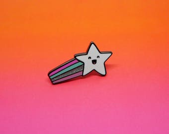 Shooting Star Enamel Lapel Pin | cute enamel pin hat badge