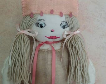 Doll cloth linen Bunting