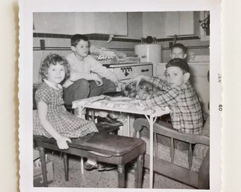 Original Vintage Photograph | The Kids Table | 1960