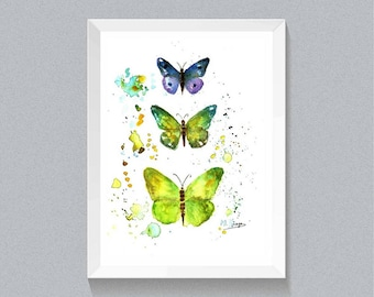 Butterfly  Printable Art-Butterfly Wall Art- Boho Print- Watercolor Print Butterfly Decor, Insect Print,Insect Poster digital download