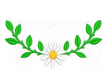 Vine Daisy Embroidery Design, Flower Embroidery Design, 4x4 Hoop MULTIPLE FORMATS Download