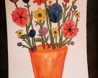 Handmade Watercolor & Ink