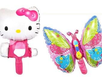 Butterfly + Hello kitty balloon