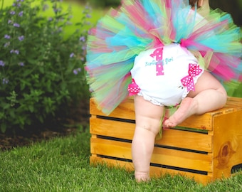 Baby Girl Bloomers - 1st Birthday Diaper Cover - Tutu Outfit Diaper Cover - Personalized Baby