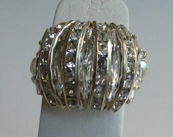 RING size 55/56 Swarovski rhinestones