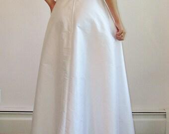 NEW A-line Silk Shantung Skirt - Long