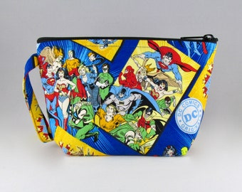 DC Comics Makeup Bag - Accessory - Cosmetic Bag - Pouch - Toiletry Bag - Gift