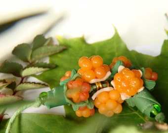 Cloudberry Necklace Cloudberries Bakeapple  Knotberry Knoutberry Evron Salmonberry  Yellowberry