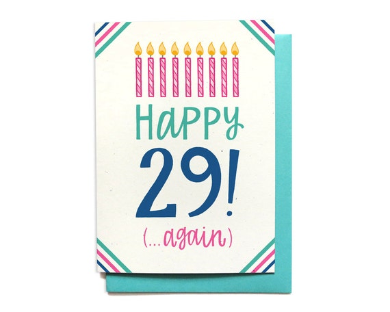 Funny Birthday Card 30th Birthday Card 29th Birthday Card