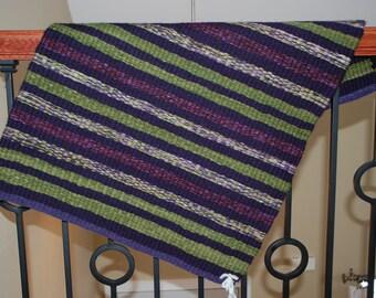 Handwoven Wool Rug, Wool Rug, Hand woven Wool Rug, Hand woven Rug, handwoven by Blind Sparrow