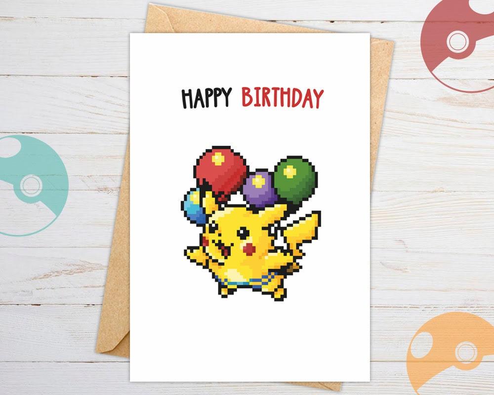 Pokemon Birthday Card Pokemon Go Pokemon Go Birthday # Muebles Pokemon