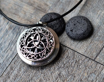 Lava Stones Essential Oil Diffuser Necklace/Celtic/Aromatherapy/With 2ML Essential Oil
