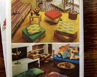 Vintage Uncut 70's Box Edge or Knife Edge Pillows 5718
