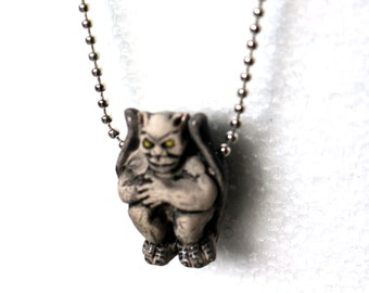 Il340x2701096301285s2sogversion0 gargoyle necklace hand painted ceramic ball chain necklace weird christmas gift free aloadofball Gallery