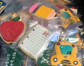 SCHOOL TEACHER STUDENT Customizable Sugar Cookies