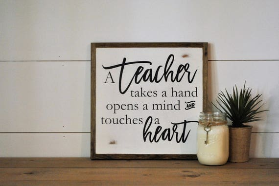 TEACHER 1'X1' sign