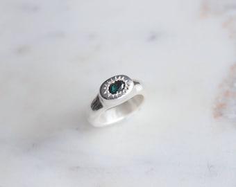 NEW// Blue Green Tourmaline Ring