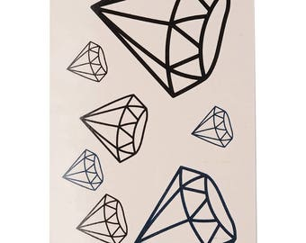 Diamonds Tattoo Sheet - 1 Pc