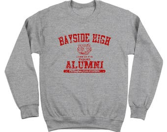 Bayside High Alumni Saved By The Bell The Max 80S Tigers Crewneck Sweatshirt DT0128