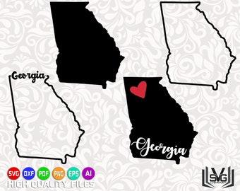 Georgia SVG - Georgia outline SVG - Georgia cut files - Georgia state design - State outline svg - United States SVG - Cricut files
