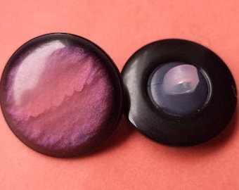 13 BUTTONS pink purple 18mm (5391) button