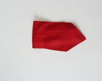 Red put a scarf for men, Steckschal, vintage silk scarf, tie