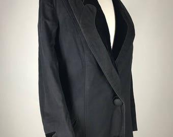 Rare! Antique Edwardian Art Nouveau Redfern Couture Wool Coat Jacket Duster M L