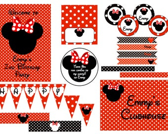 Minnie Mouse Birthday Party Printables Printable Party
