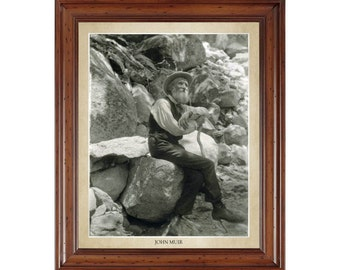 John Muir portrait; 16x20 print on premium heavy photo paper