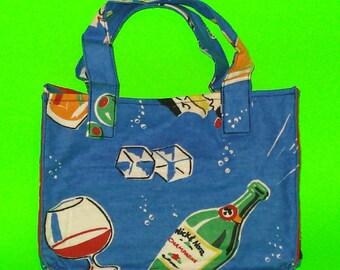 LAST ONE! Blue Party Kitschy Liquor Culture New Years Eve Celebration Classic Handbag Printed Purse