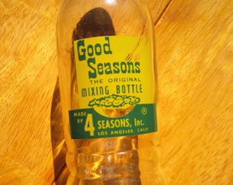 Vintage Good Seasons dressing mixing bottle