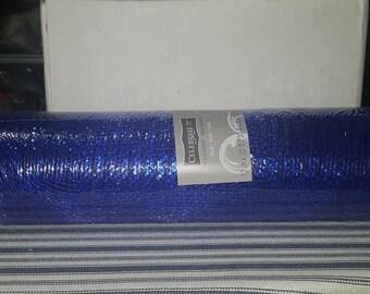 Blue mesh, blue deco mesh, blue mesh, blue wreath making mesh, blue deco mesh