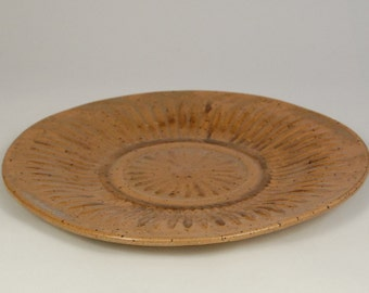Ceramic Yellow Ochre Serving Plate