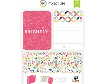 Live Brightly Project Life Value Kit -- Butterflies -- Birds -- Bunnies -- 180 Pieces