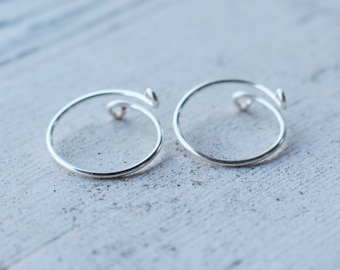 Pair of Single Band Silver Wire Knuckle Rings