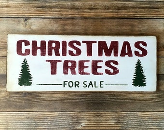 Christmas Trees For Sale Rustic Wood Sign