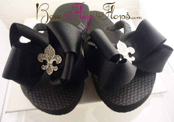 Rhinestone B de choose Flip Flops Bow Fleur Lis Bling your Buckle bow colors C6xqw4xRS