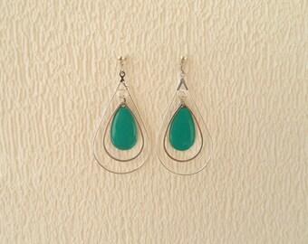 Earrings graphic enamel - designer jewelry