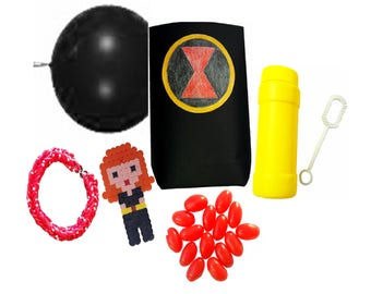 Themed Party Bag Favour - Black Widow (Marvel Avenger)
