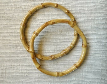 1 pair of  4.5 or 6 inch (11.5 cm or 15 cm ) bamboo ring for purse/bag/tote/handles or decorative interior item