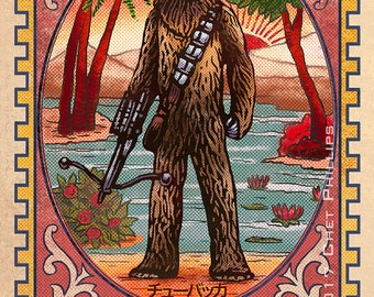 "Wookie Matchbox Art- 5"" x 7"" matted signed print"